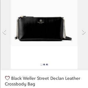 NWT Black Leather Crossbody Body